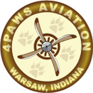 4 Paws Aviation Logo